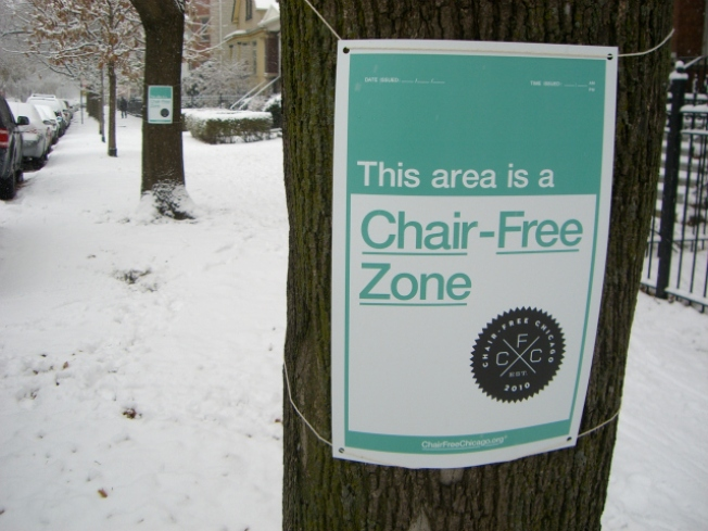 """Chair-Free Zones"" Sweep Chicago Streets"