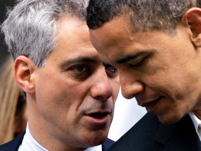 Rahm Gets a Presidential High Five