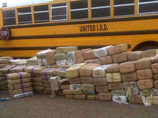 5,000 Pounds of Pot Found on Fake School Bus