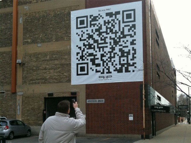 Giant QR Codes Hit Chicago