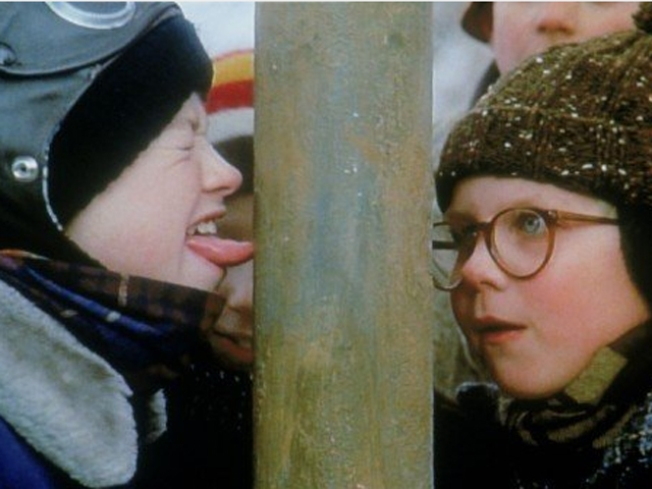 Boy Tongue Tied to Pole