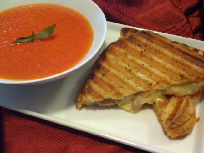 Childhood Grilled Cheese And Tomato Soup Grows Up