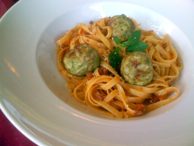 Homemade Pesto Flavors Chicken Meatballs And More
