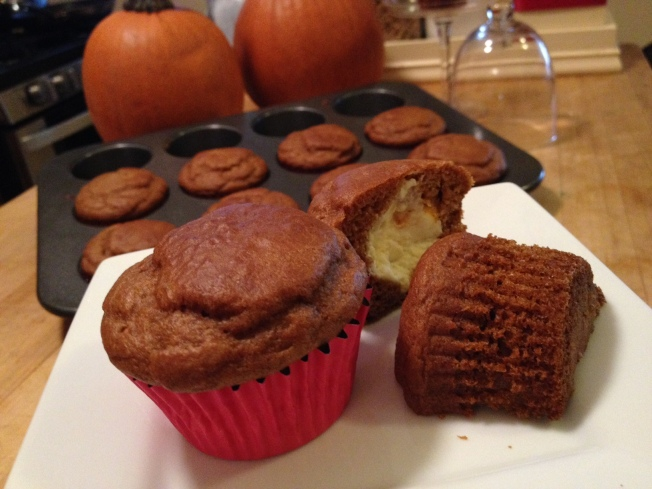 Wayne's Weekend: Cream Cheese Stuffed Pumpkin Muffins