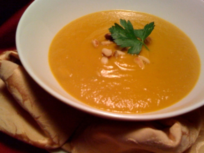 Roasted Root Vegetable Soup, Hearty And Healthy