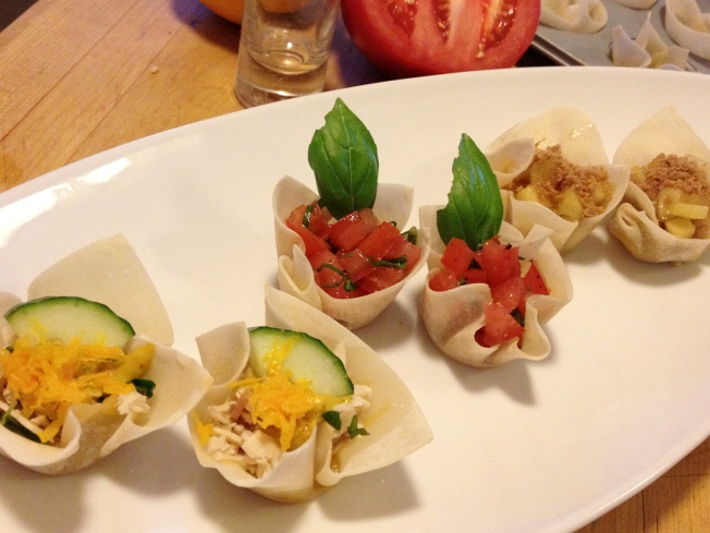 Make Sweet And Savory Appetizers Using Wonton Wrapper Cups