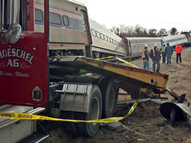 Amtrak Train En Route to St. Louis Hits Big Rig