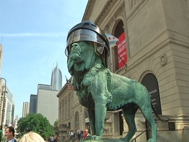 Art Institute Lions Roar for Blackhawks