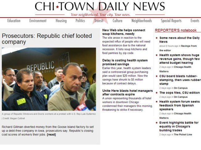 ChiTownDailyNews.org Going Belly Up