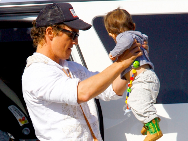 Matthew McConaughey Gearing Up For Baby No. 2 & Enjoying Life With A Toddler
