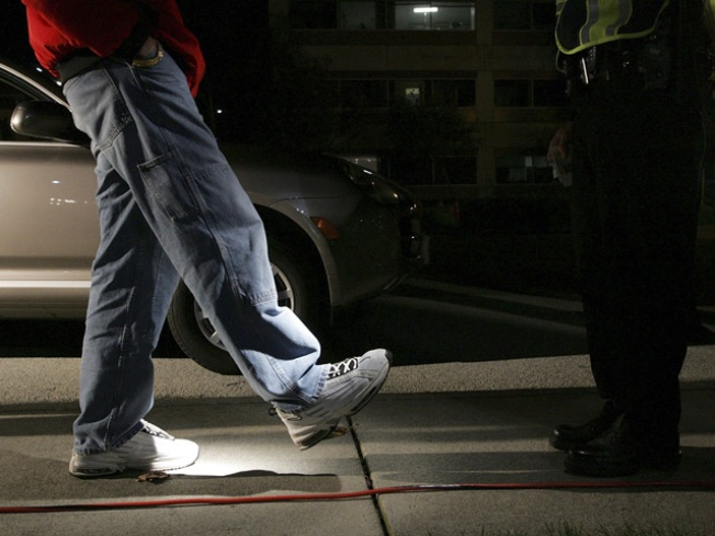 Driver's Sobriety Test Becomes Runway Walk