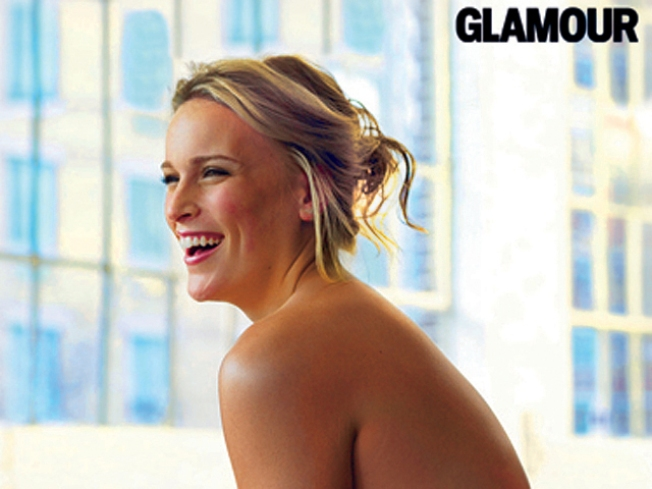 """Glamour"" Plus-Sized Model Bares All for Shoot"