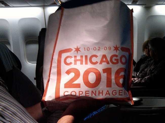 O Goody: Olympic Flight Gets Swag Bags