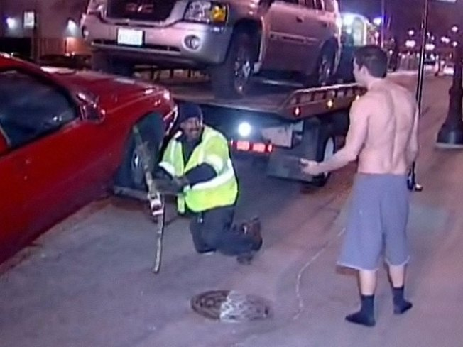 Tow Is Me: Half-Naked Man Pleads for Car