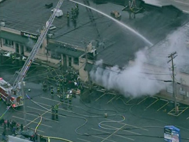 Fire Ravages Strip Mall