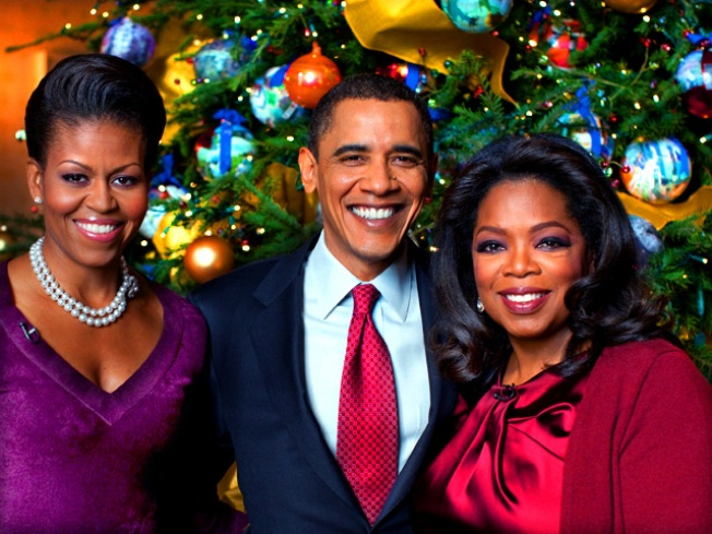 Oprah Schmaltzes White House for Christmas