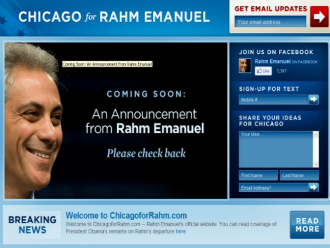 Rahm's New Website Up and Running