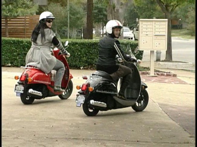 Bikers, Scooters Have Sticky Parking Problem