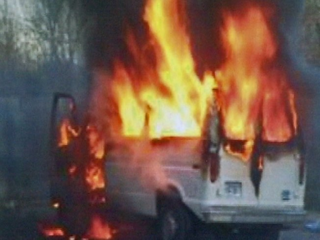 Vandals Torch Christmas Charity Van
