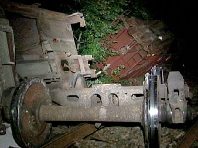 No Injuries From Freight Train Car Derailment