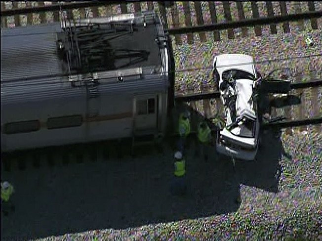 Two Killed as South Shore Train Strikes Car
