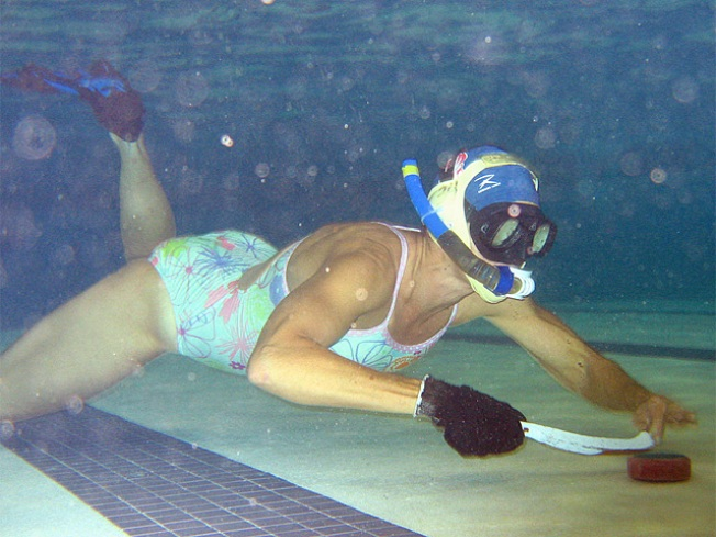 Play Underwater Hockey