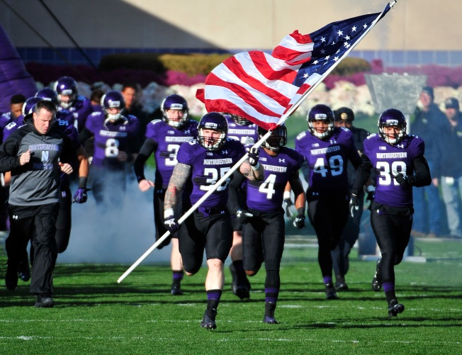 Navy SEAL Makes Football Debut for Northwestern