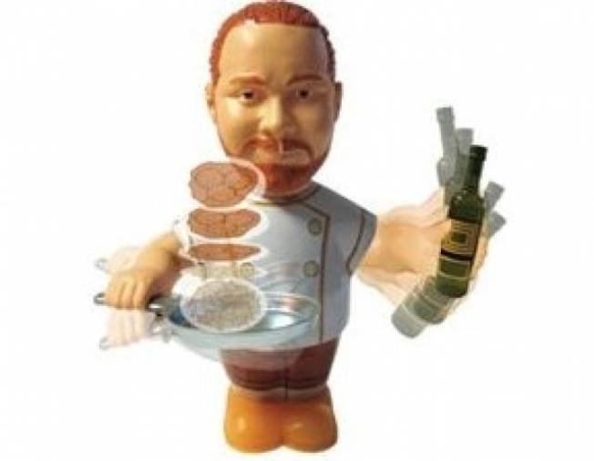 Mario Batali Food Flipper Toy