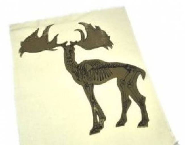 Illustrated Elk Pillow