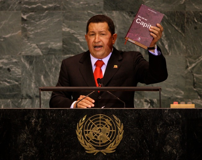 "Chavez's Nose Detects ""Hope"" Over ""Sulfur"" at U.N. Confab"