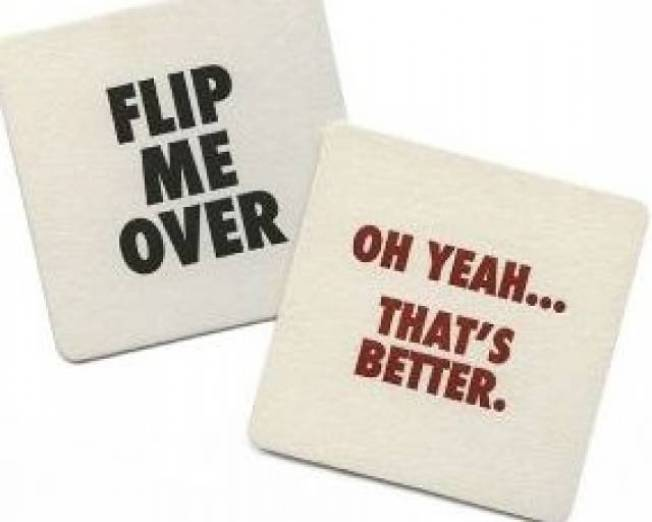 Flip Me Over Coasters