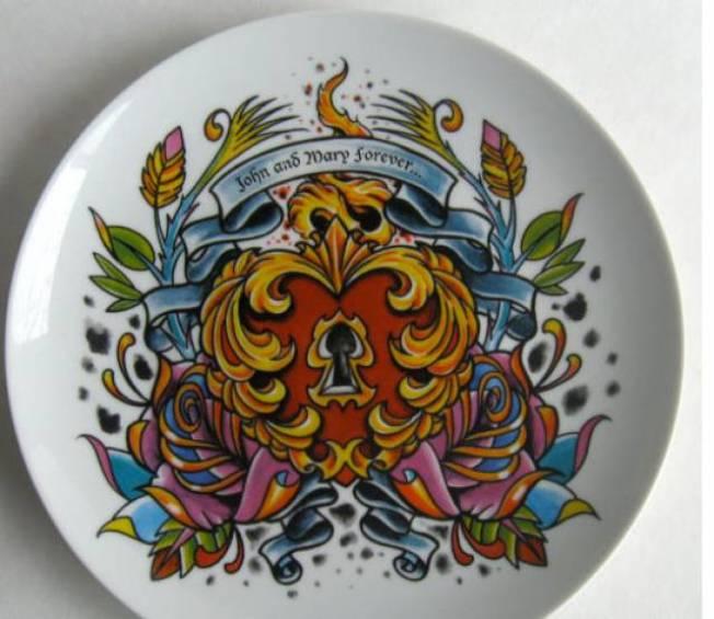 Tattoo Dessert Plates
