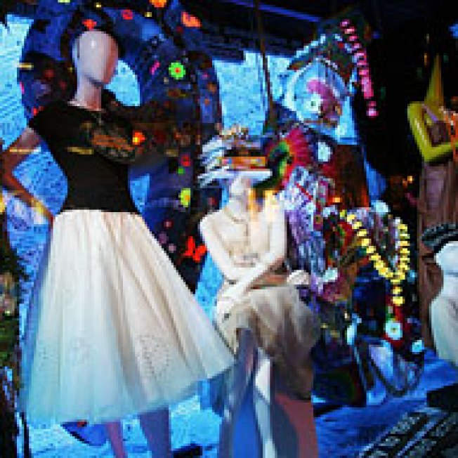 Barneys' New Tom Brokaw–Inspired Holiday Windows Include Afro Wreaths