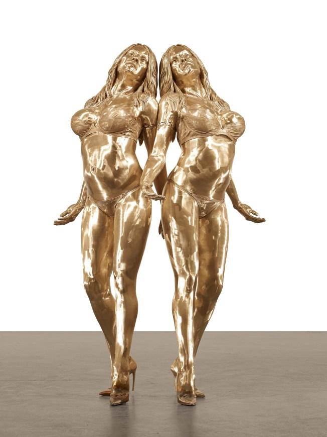Pamela Anderson Cast in Bronze Twice