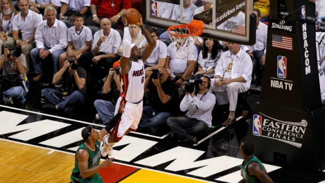 James Leads Heat Past Celtics