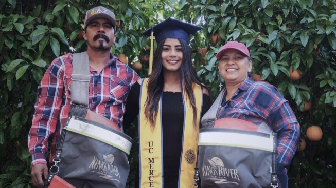 College Senior's Tribute to Immigrant Farm Worker Parents Goes Viral