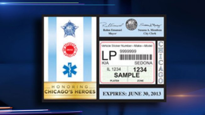 Chicago City Stickers On Sale at Clerk's Office