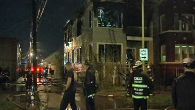 Two Dead, Firefighters Injured in North Side Fire