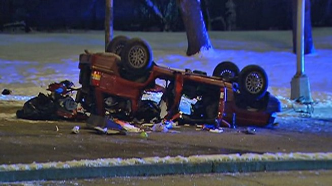 3 Killed in Chicago Rollover Crash