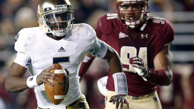 Golson Leads Notre Dame to 21-6 Win Over Boston College