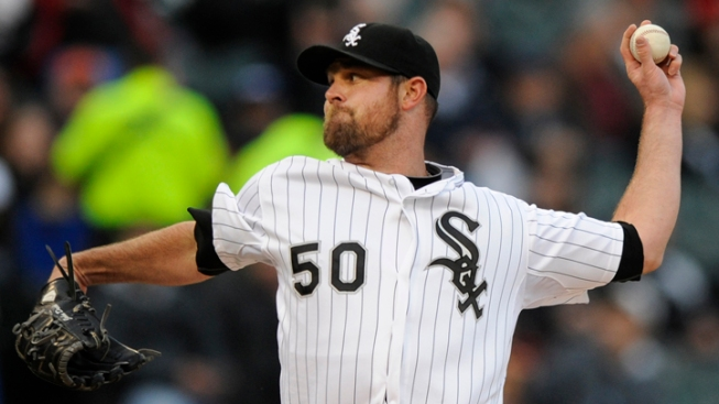 John Danks Wins First Game of Season