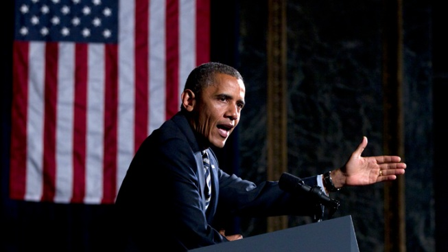 Obama Addresses Jobs in Chicago Cultural Center Speech