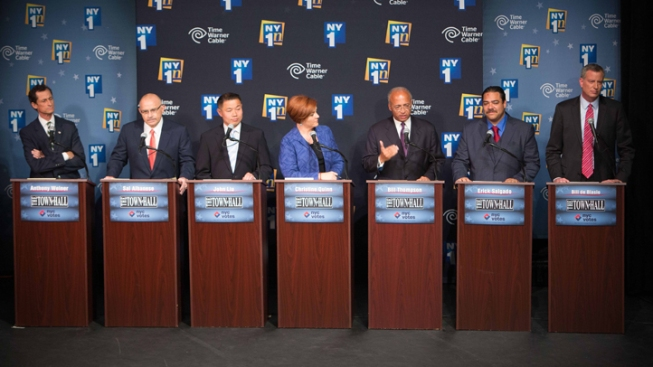 In 2nd Democratic NYC Mayoral Debate, Quinn, Thompson Sharpen Attacks on Surging de Blasio