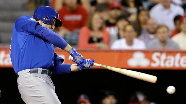 Rizzo Hits 3-Run Double, Cubs Beat Angels
