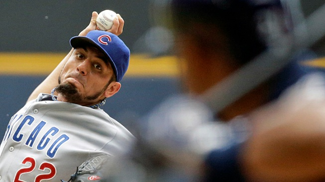 Garza Strikes Out 10 in Cubs Win Over Brewers