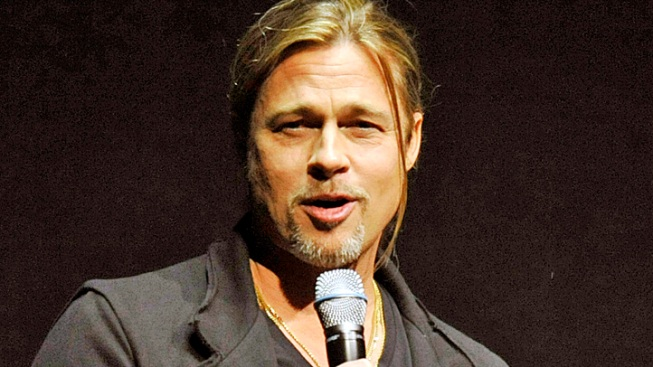 "Brad Pitt Makes (Another) Surprise Appearance at ""World War Z"" Screening in London"