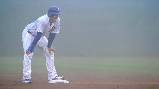 Cubs Lose at Foggy Wrigley Field