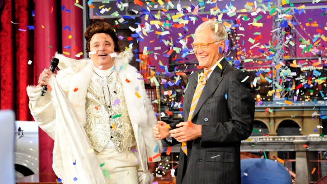 "Bill Murray Dresses as Liberace to Help David Letterman Mark ""Late Show's"" 20th Anniversary"