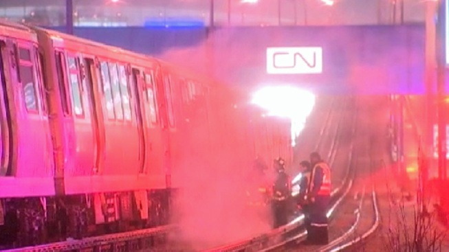 150 People Evacuated After Blue Line Fire