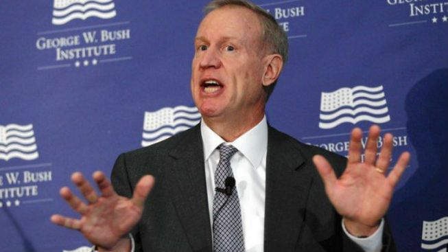 Rauner Tours Illinois, Pushes Stopgap Funding Measures